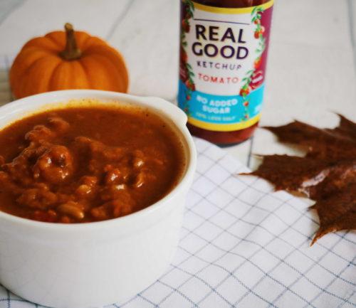 Pumpkin and Black Bean Hotpot